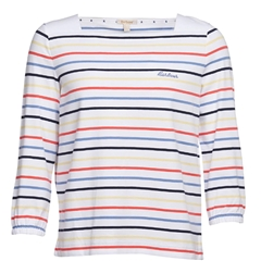 New 2020 Barbour Seaview Top - White Multicoloured  Stripes