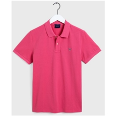 New 2020  Gant Original Pique Short Sleeve Rugger - Rapture Rose