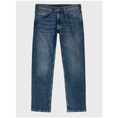 New 2020  Gant Regular Fit Jeans - Mid Blue Worn In
