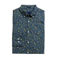 New 2020 Gant Long Sleeve Lemonade Print Shirt - Navy
