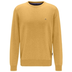 Fynch Hatton Superfine Cotton Crew Neck Sweater - Citron