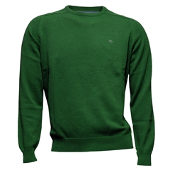 Fynch Hatton Superfine Cotton Crew Neck Sweater - Palmtree
