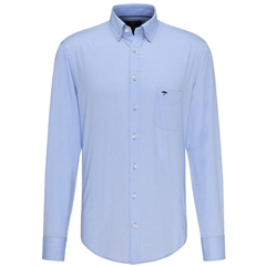 Fynch Hatton Soft Compact Cotton Shirt - Light Blue