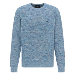 New 2020 Fynch Hatton Supersoft Cotton Sweater - Icewater