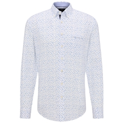 Fynch Hatton Superior Print Cotton Shirt - Ginkgo Leaves