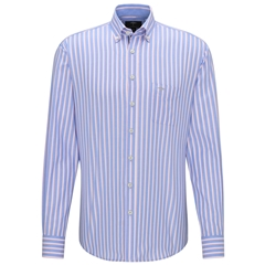 New 2020 Fynch Hatton Supersoft Cotton Shirt - Cotton Candy Blue Stripe