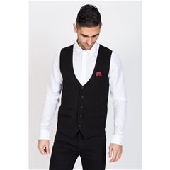 Marc Darcy Kelly Single Breasted Waistcoat - Black
