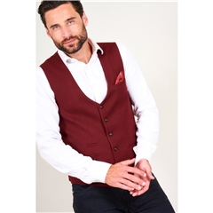 Marc Darcy Kelly Single Breasted Waistcoat - Wine