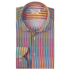 Giordano Shirt - Multi Variable Stripe - Liberty Print