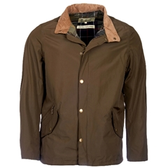 New 2020 Barbour Men's Spoonbill Waterproof Breathable Jacket - Dark Olive