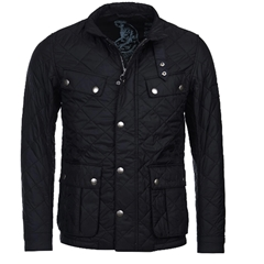 New 2020 Barbour International Men's Ariel Quilted Jacket - Black
