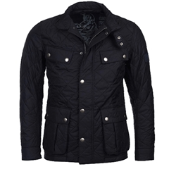 New 2020 Barbour International Men's Ariel Quilted Jacket - Navy