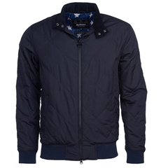 New 2020 Barbour International Men's Steve McQueen Glance Quilted Jacket - Navy