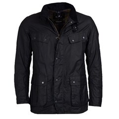 New 2020 Barbour International Men's Duke Waxed Cotton Jacket - Black