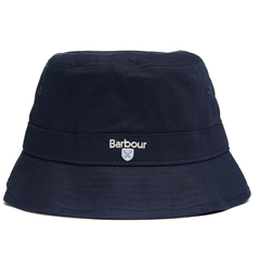 New 2020 Barbour Men's Cotton Cascade Bucket Hat - Navy