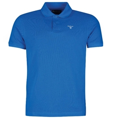 New 2020 Barbour  Men's Sports Pique Polo Shirt - Sport Blue