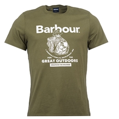 New 2020 Barbour  Men's Outdoors  T-Shirt - Light Moss