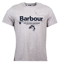 New 2020 Barbour  Men's Outdoors  T-Shirt - Grey Marl