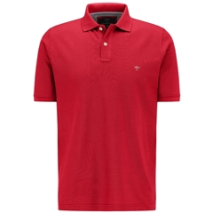 Fynch Hatton Cotton Polo Shirt - Sangria