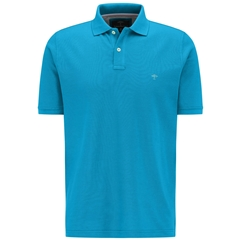 New 2020 Fynch Hatton Cotton Polo Shirt - Crystal Blue