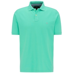 New 2020 Fynch Hatton Cotton Polo Shirt - Fresh Mint