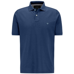 New 2021 Fynch Hatton Cotton Polo Shirt - Midnight Blue