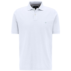 New 2020 Fynch Hatton Cotton Polo Shirt - White