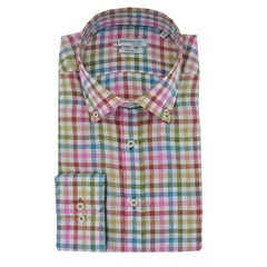 Giordano Linen Shirt - Multicoloured Check