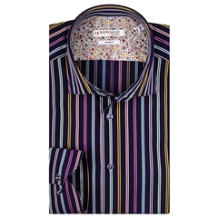 Giordano Shirt - Dark Navy Multi Stripes
