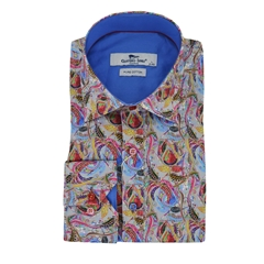 Claudio Lugli Patterned Shirt - Grey