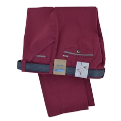 New Summer Meyer Cotton Trouser - Raspberry - Chicago 5031-55