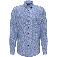 New 2020 Fynch Hatton Cotton Shirt - Leaf Print