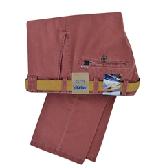 New Summer Meyer Cotton Trouser - Raspberry - Oslo 3122 53