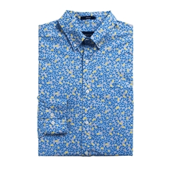 Gant Long Sleeve Lemonade Print Shirt - Sky Blue