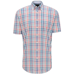 New 2020 Fynch Hatton Short Sleeve Shirt -Watermelon