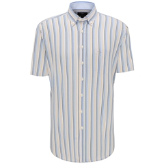 New 2020 Fynch Hatton Short Sleeve Shirt - Citron
