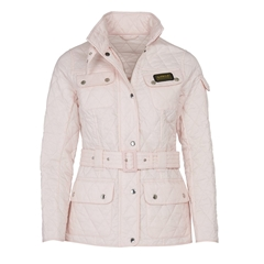New 2020 Barbour International Quilted Jacket - Cameo Pink