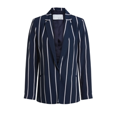 New 2020 Oui Stripe Blazer - Navy