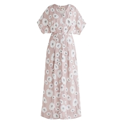 New Paisie 2020 Athens Maxi Floral Dress - Pink