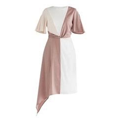 New Paisie 2020 Dione Panel Dress - Pink