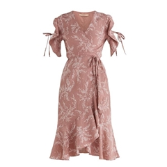 New Paisie 2020 Hera Print Wrap Dress - Pink