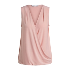 New 2020 Jersey Wrap Top - Apricot