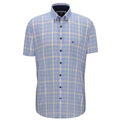 New 2020 Fynch Hatton Short Sleeve Shirt - Citron Palmtree