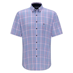 Fynch Hatton Short Sleeve Shirt - Watermelon Caribbean