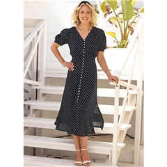 New 2020 Pomodoro Spot Midi Dress - Navy