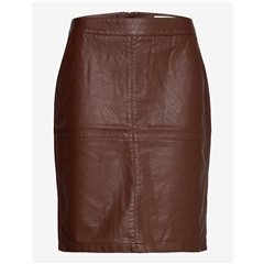 Soya Concept Faux Leather Skirt - Dark Brown