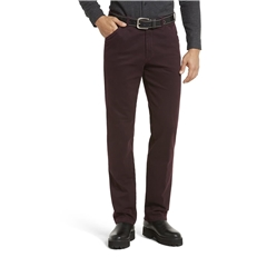 Meyer Autumn Cotton Trouser - Bordeaux - Chicago 5568 57