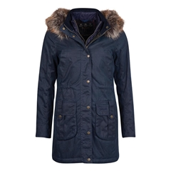 New 2020 Barbour Homeswood Waxed Cotton Jacket - Navy