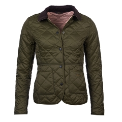 Barbour Deveron Quilted Jacket - Olive