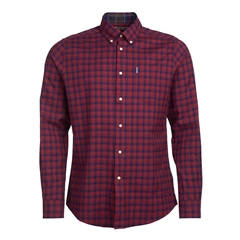 Barbour Country Check 14 Tailored Shirt - Rich Red